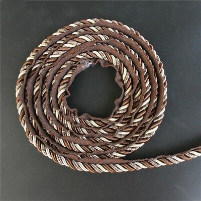 Upholstery Flanged Piping Cord Twist Rope Trimmings Cushion Gimp Trim 1cm 12.5m