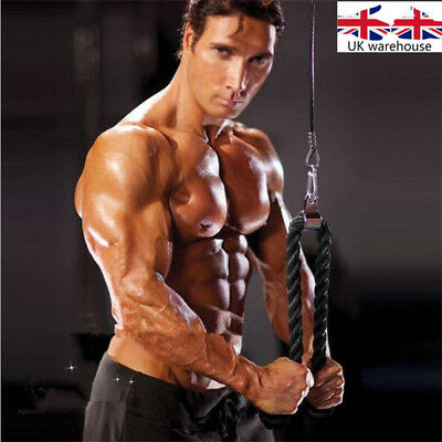 Tricep Rope Push Pull Down Press Multi Gym Bodybuilding Cable Attachment UK