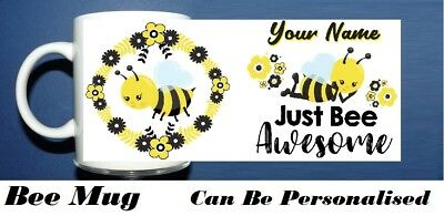 Bee Mugs - Can Bee Personalized Three designs to Pick From