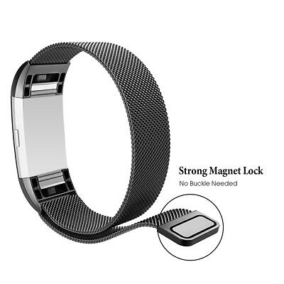 Metal Magnetic Milanese Stainless Watch Band Strap Fitbit Charge 2 Tracker SALE