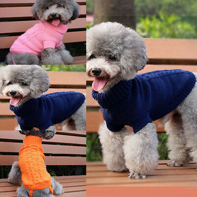 Soft Pet Cat Dog Knitted Jumper Winter Sweater Warm Coat Jacket Puppy Clothes