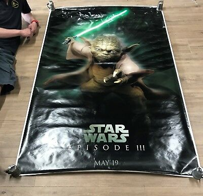 Star Wars Episode III Revenge Of The Sith Yoda Poster 6 ft x 4 ft