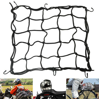 Elastic Trunk Cargo Net W/  6 Removable Adjustable Hooks For Motorcycle Car Bike