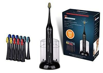 Pursonic S420 High Power Rechargeable Sonic Toothbrush with 12 Brush Heads