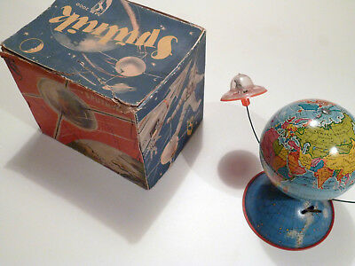 Michael Seidel Sputnik MS 2000 OVP Globus Raumschiff Astronaut Space Wind-Up Toy