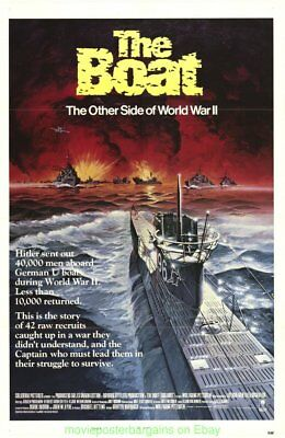 DAS BOOT THE BOAT WWII MOVIE POSTER 1982 Original Folded Mint 27x41 wwii Film