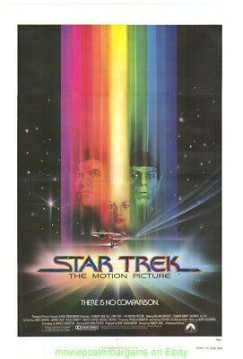 Star Trek The Motion Picture Póster Película Original Plegado 27x41 VF en Lino