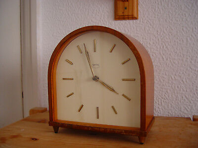 Smiths 8 Day Striking Mantel Clock with Floating Movement
