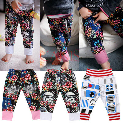 NWT Toddler Baby Boys Girls Star Wars Floral Bottom Panty Harem Pants Trousers
