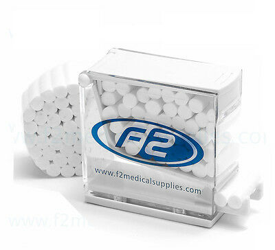 F2 Medical Cotton Rolls For Dental Use, 600 Pieces Per Bag, 28mm x 10mm