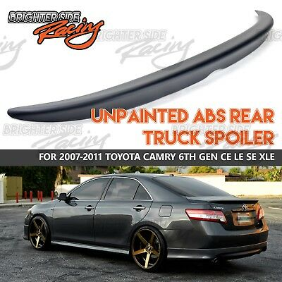 For 2007-11 Toyota Camry ABS sin Pintar Negro Cubierta Posterior Tronco Wing