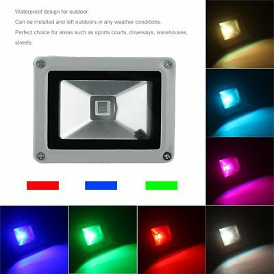 Remote Control 16 RGB 10W 85~265V LED Flood Light Lamp Floodlight Waterproof ND