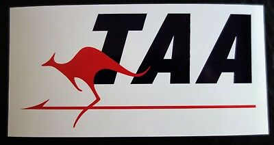 TAA AIRLINES AIRPLANE BUMPER STICKER DECAL 120x60mm