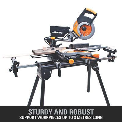 Evolution 800B Mitre Saw Stand with Extension Arms 150kg Max. Load Extendable Su