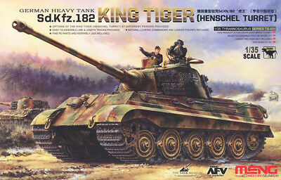 Meng Model 1/35 TS-031 World War II German heavy tank Tiger King Henshall turret