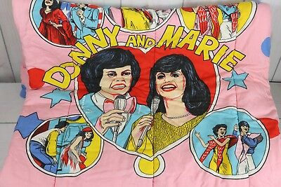 Vintage 1970's Donny and Marie Osmond Sleeping Bag Retro Groovy Glamping Camping