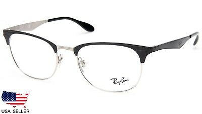be1f7c9851 NEW Ray Ban RB6346 2861 TOP BLACK On SILVER EYEGLASSES FRAME 6346 52-19-