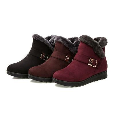 NEw Womens Ladies Winter Warm Snow Boots Fur Lined Zipper Buckle Ankle Shoes 181
