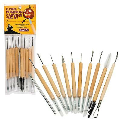 21 Pcs Pumpkin Carving Tools Double Sided Halloween Sculpting Carve Kit
