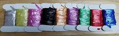 Synthetic Raffia, 2 Meter Cards, Various Colors,