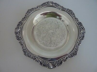 Outstanding Wallace Baroque Silver Plate Round Butter Dish #244