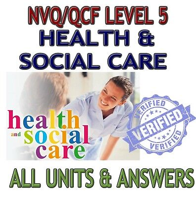 NVQ/QCF Diploma LEVEL 5 Health and Social Care Leadership Management - ALL UNITS