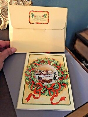 F12 Vintage Avon 1985 Merry Christmas Ornament Card