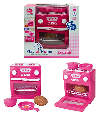 Girls Electronic Real Oven Play At Home Kitchen Light & Sound Toy Kids Xmas Gift
