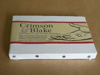 1 x SMALL ARTISTS COTTON PRIMED STRETCHED CANVAS - BRAND NEW - SEALED