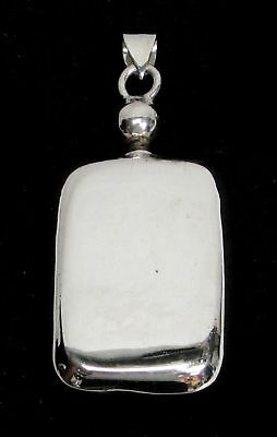 "Vintage Sterling Silver Perfume 2 1/2"" Flask Pendant"