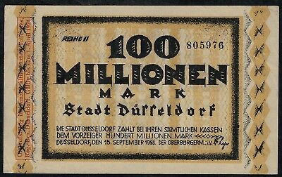 Düsseldorf Stadt, 40: 100.000.000 (100 Million) Mark 1923