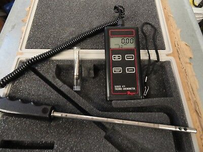 Dwyer 471 Digital Handheld Thermo-Anemometer w/Probe & Case