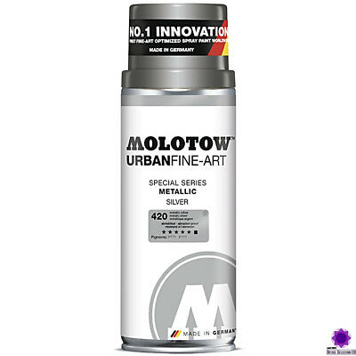 Molotow Spray Urban Fine Art Special, metallic SILBER (400ml)  Spraydose Nr. 420