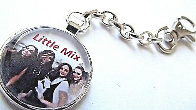 Little Mix Key Ring Strong Chain Silver Plated Gift Boxed  Party Birthday Stars