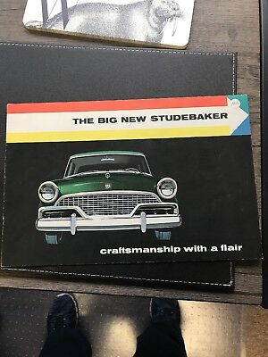 The Big New Studebaker Craftmanship with a flair 1956 Dealership Sales Brochure
