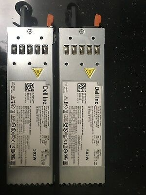Pair of Dell PowerEdge R610 502W Server Power Supply PSU