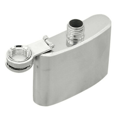 Stainless Steel Pocket Hip Flask Alcohol Whiskey Liquor Screw Cap 2-3.5oz Silver