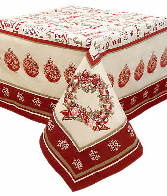 Tovaglia Natale Jacquard Country Chic Noel Collection 140 x 180