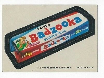 1974 Topps Wacky Packages 10th Series 10 BADZOOKA nm-