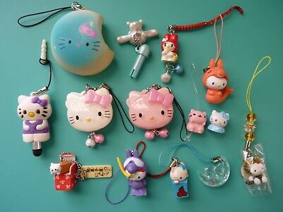 Sanrio Hello Kitty Cell Phone Strap Charms Pre-owned Collection of (14) pcs