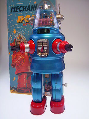 "GSR OSAKA TIN TOY INSTITUT OT05-1497 ""MECHANIZED ROBOT"" BLUE, NEU/NEW/NEUFnBOX !"