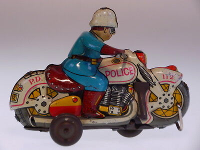 "GSMOTO YANOMAN JAPAN  ""POLICE NO 112"", 12 cm, ORIGINAL KEIN ANTRIEB, USED !"