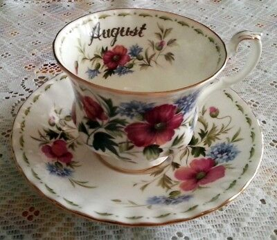 Royal Albert Flower of the month August Fiori mese Agosto Tazza  the