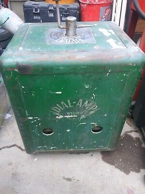 Vintage Dial-Amp arc welder w/ leads and electrodes old school stick working