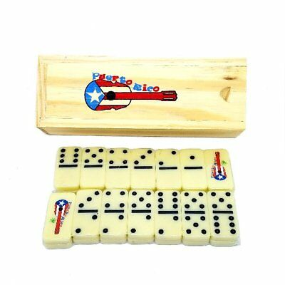 Puerto Rico Flag & Cuatro - Guitar Double Six Mini Dominos - Dominoes - Boricua