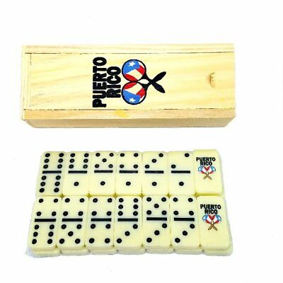 Puerto Rico Flag & Maracas Double Six Mini Dominos - Dominoes - Boricua Rican