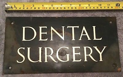 Rare Find Original Antique Solid Bronze Sign Dental Surgery C1900