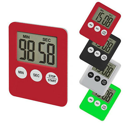 LCD Digital Kitchen Daily Cooking Timer Count-Down Up Clock Alarm Magnetic