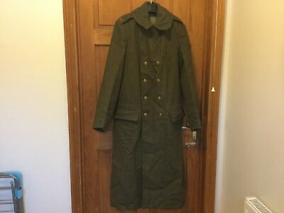 RARE 1950s ARMY ROYAL MARINES GREAT COAT ALL BRASS BUTTONS & R.M. SHOULDER