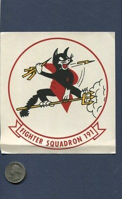 Vintage Decal VF-191 SATANS KITTENS US NAVY F-8 CRUSADER Squadron Patch Image